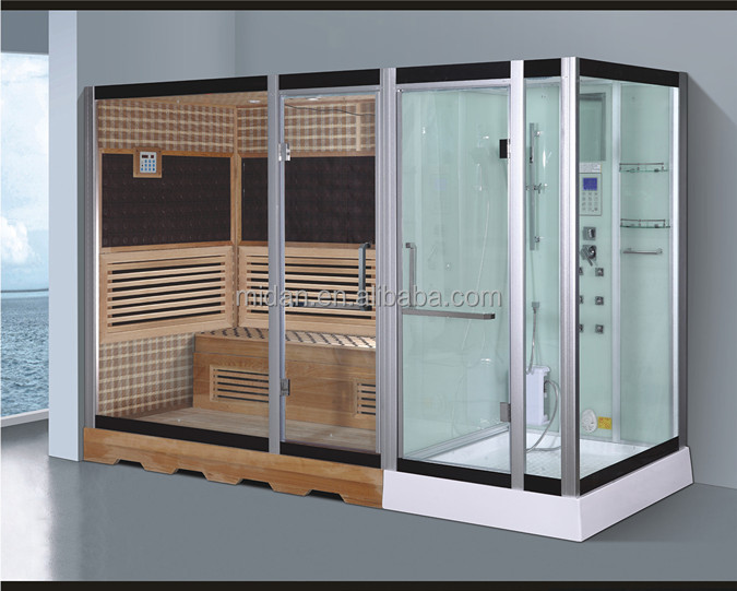 6 person tourmaline khan infrared sauna steam shower room combination AT-D8867