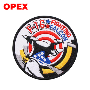 Outdoors Expansion Waterproof Custom 3D embroidered eagle patch Logo Embroidery Travel Genuine Luggage