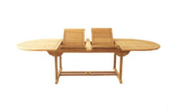 KAYU OVAL DOBLE EXT TABLE