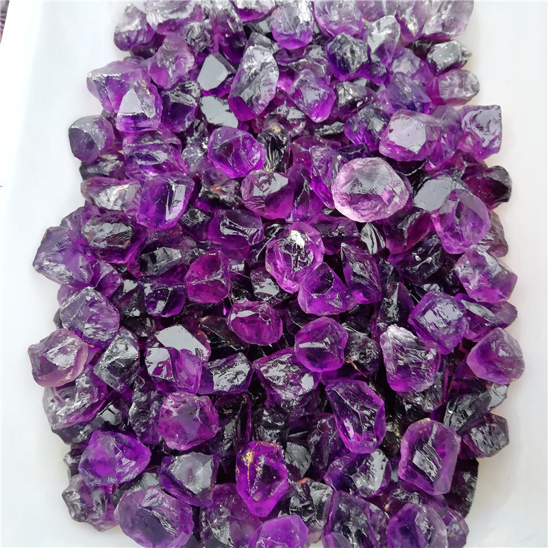 Wholesale natural beautiful amethyst tumbled stone clastic stone crystal gravel