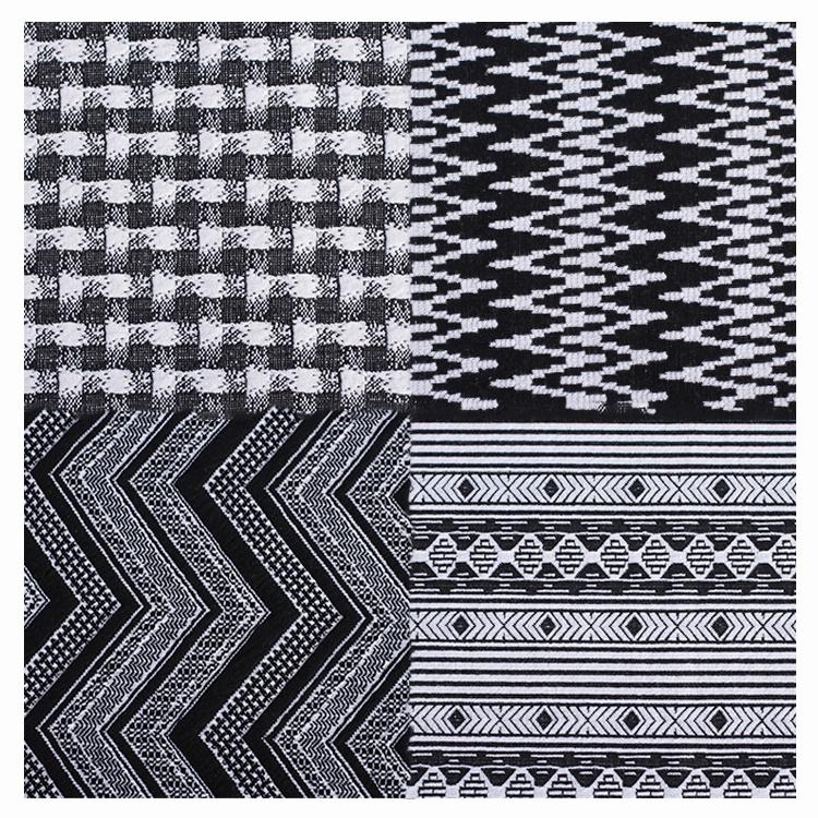 china supplier new design polyester knitting satin  jacquard fabric