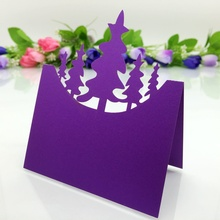 Wholesale christmas tree design cards of desk signs name place cards for christmas party