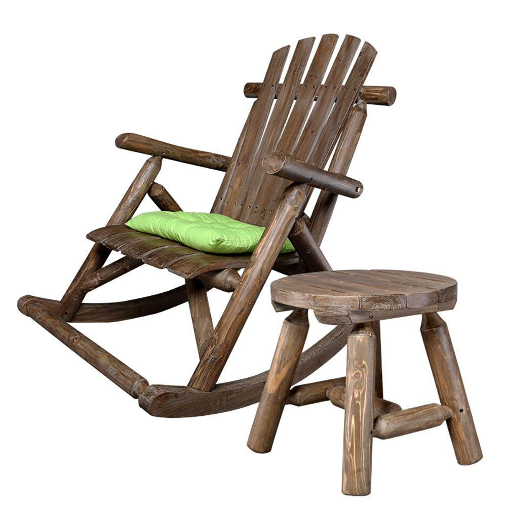 Get Quotations Rocking Chairs Wssf Balcony Solid Wood Deckchairs European Leisure Lunch Break Nap Bed Lounge Chair