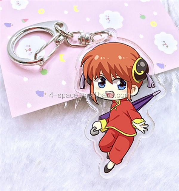 Clear Acrylic Keychain Double Sided Anime Keyring Characters From Gintama -  Buy Acrylic Keychain,Clear Acrylic Keychain,Double Sided Anime Keyring