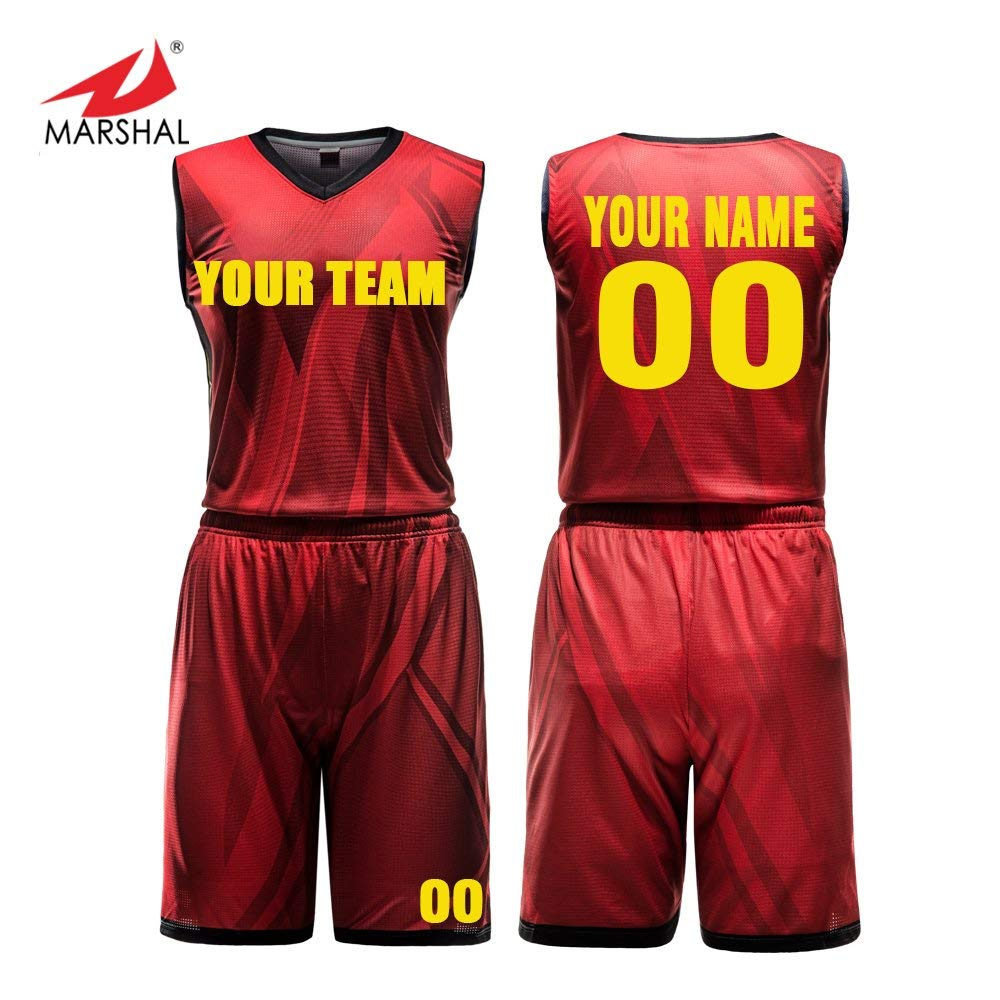 d7da776b7abba Marshal Jersey Custom Basketball Jersey Set Full Sublimation Printing  Sportswear 4 Colors Custom Your Team Name