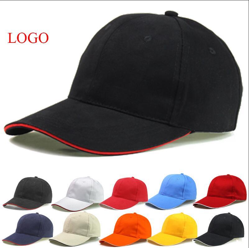 soft front baseball caps cotton custom cap hat shell brim