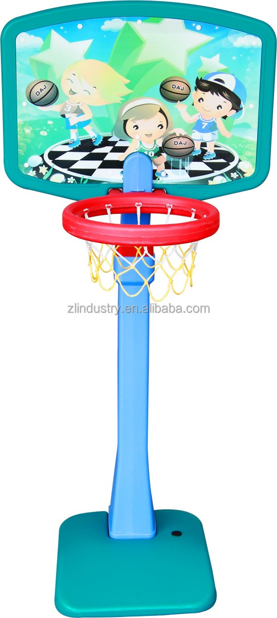 Children plastic middle basketball stand