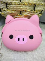 Promotional Silicon Kids Coin Purse/Silicone Rubber Mini Money Bag Wallet