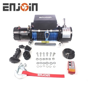 winch 13000 lbs 12 v electrical winch with synthetic rope