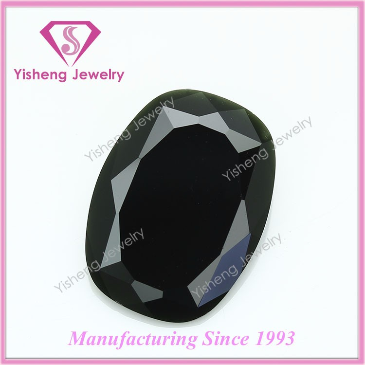 Antique Faceted Large Table Cut Synthetic Black Onyx Stone Wholesale