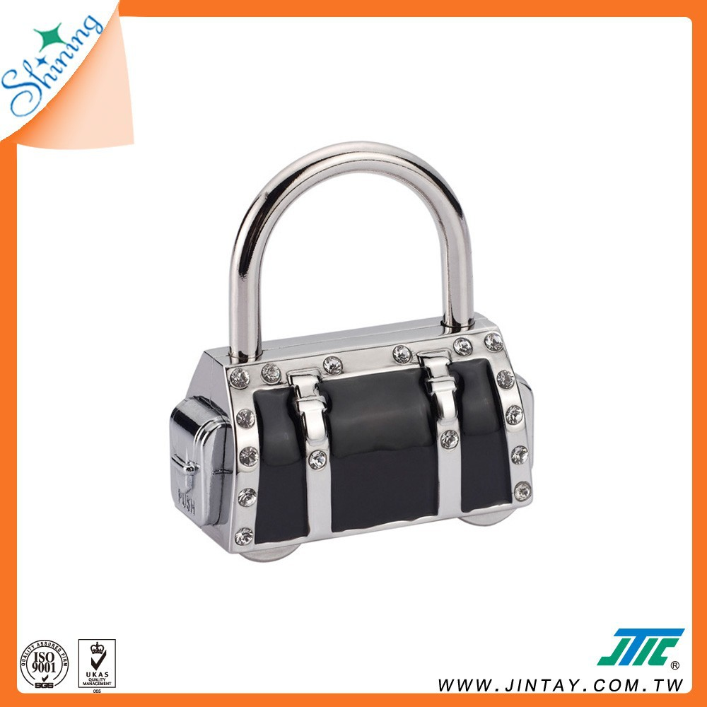 Luggage Cable Combination Padlock ; Handbag Charm Accessory