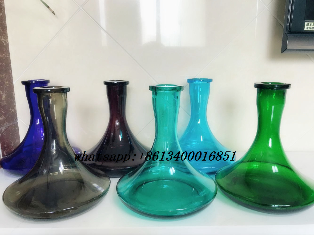 large hookah vase,hookah bottle,glass hookah vase