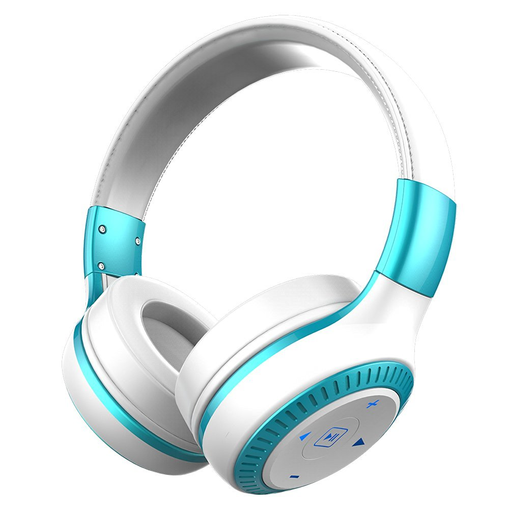 ZEALOT B20 Wireless Headset Foldable On-Ear Bluetooth Headphones with HD Sound Quality Superior Bass (White+Blue)