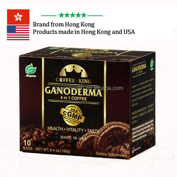 Made in USA cGMP instant coffee with lingzhi mushroom