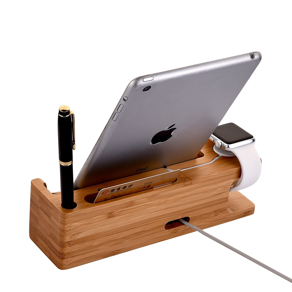 Wooden Phone Stand ~ New gadget universal wooden mobile holder for iphone