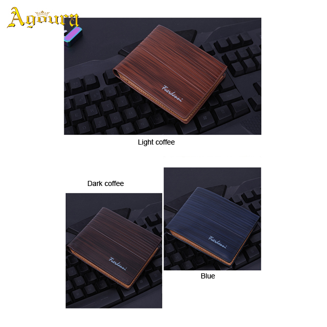 In Stock Men's Short PU Leather Multi-card Wallet