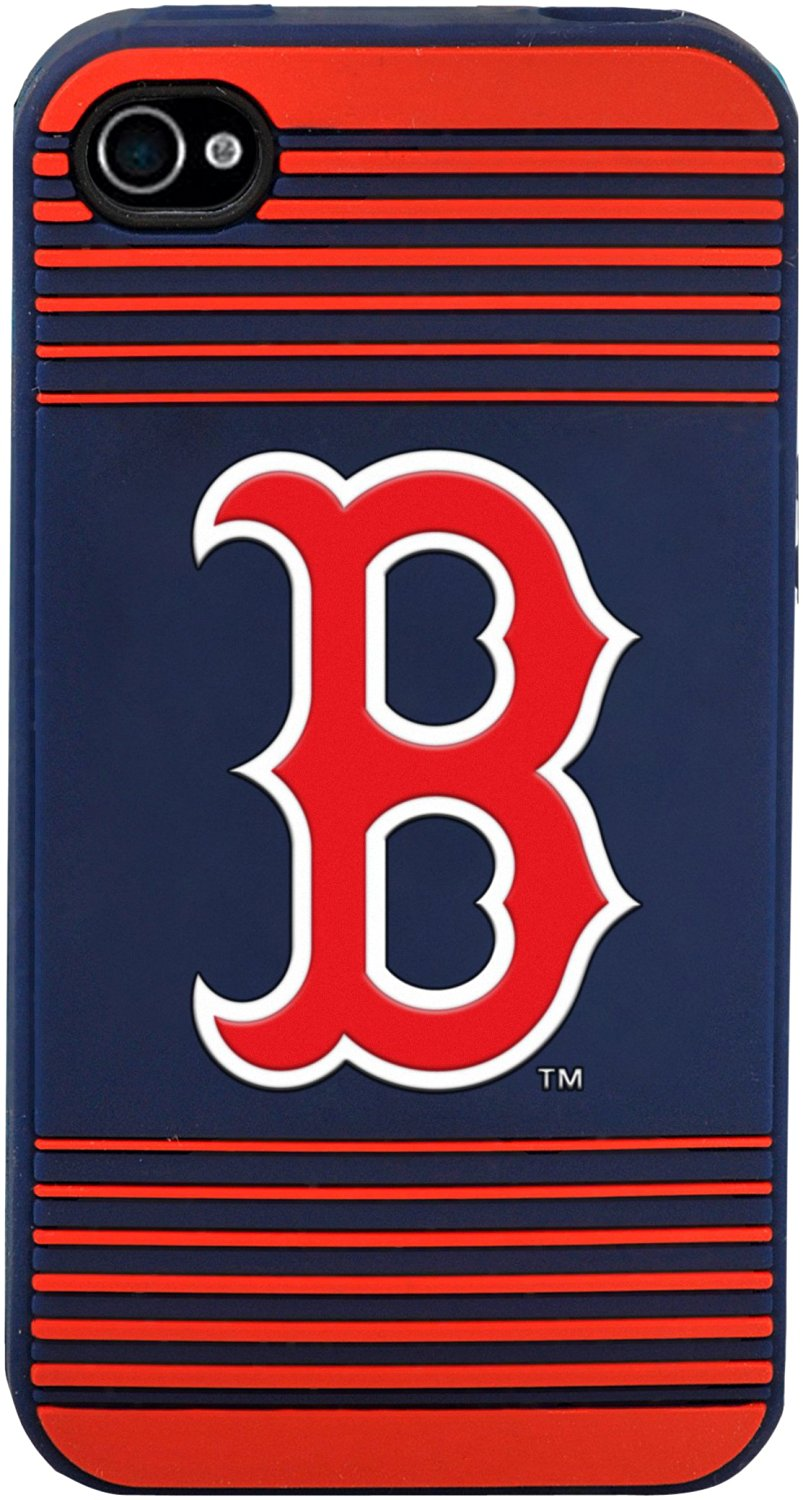 Forever Collectibles Boston Red Sox Team Logo Silicone Apple iPhone 4   4S  Case 7fc203c717