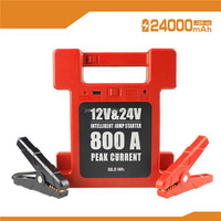 Truck car Jump Starter Heavy Duty Commercial Truck 12/24V, 24000mAh Multi-Function Auto Start Power & Ultra-bright LED