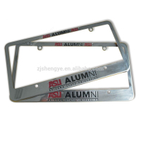High Quality Wholesale custom design car licence plate frame