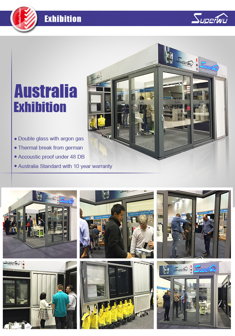 Australia standard matt black color interior/exterior french aluminium lift and sliding door with low price