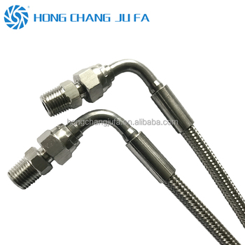 High pressure 3/4 inch 90 female ends stainless steel wire braided ptfe teflon hose