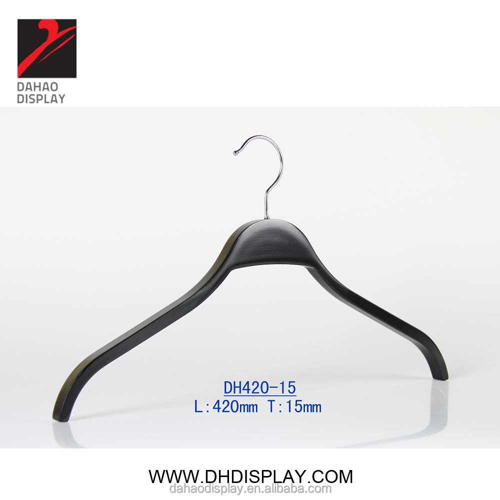 DH42012P Black Wooden Laminated Top Coat Clothes Hanger