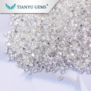 Wholesale loose stone 1mm colorness VVS clarity excellent cut synthetic moissanite