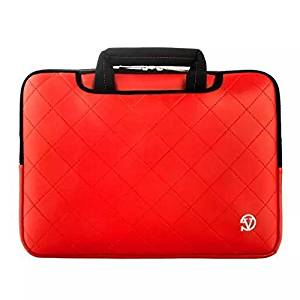 "VanGoddy 13.3"" Laptop / Tablet Carrying Bag for HP Chromebook 11/ Envy 13 Ultrabook/ Pavilion 11-e110nr/ Pavilion 13.3-Inch/ Pavilion x360/ Spectre 12×2/ Spectre 13×360/ Stream 11.6/ Stream 13.3 (Red)"
