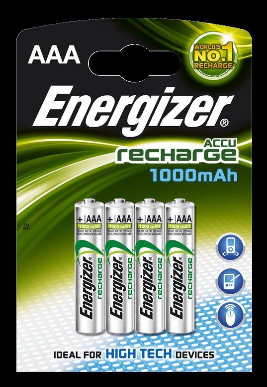Aaa Energizer Accu Rechargeable Batteries - 850 Mah 4pk