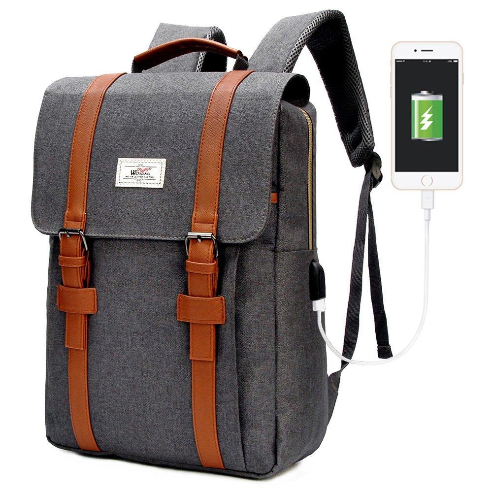 Get Quotations · Modoker Vintage Laptop Backpack for Women Men c09be2e0aa509