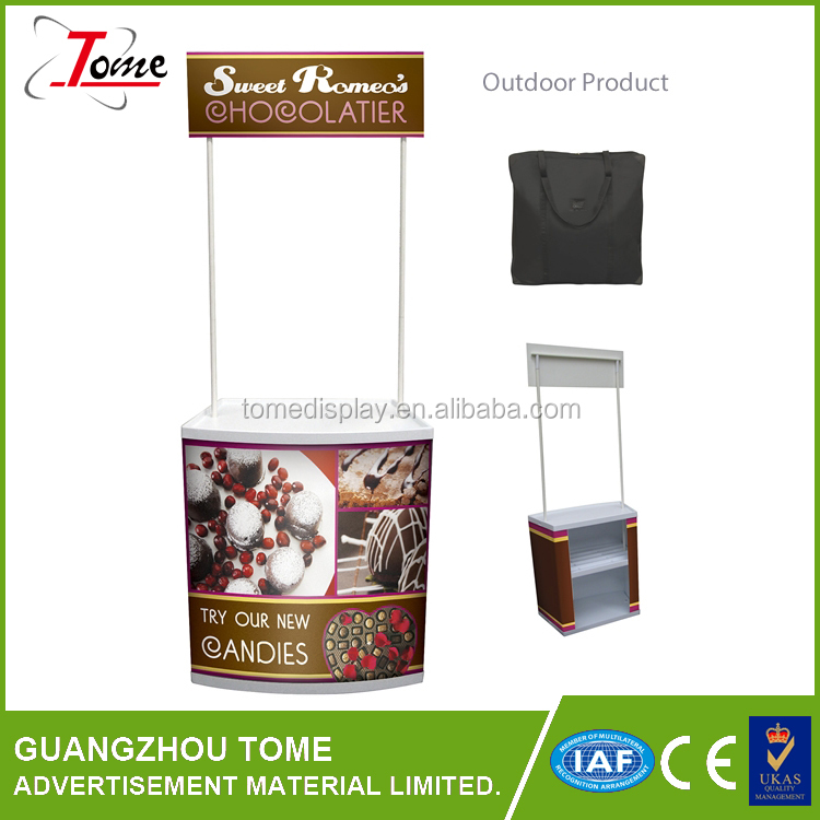 PVC promotion counter booth promotion table with good price