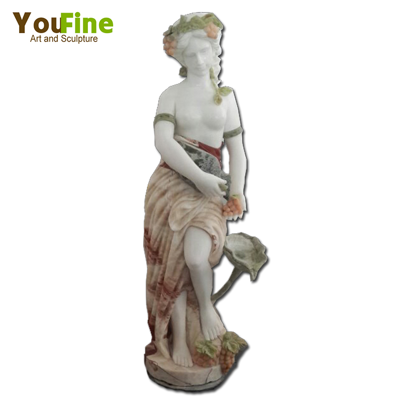 Large Marble statuary with Grapes Carving Design