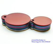 colorful anodized aluminium dog tag