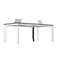 China manufacturer modern workstation wooden L-shaped designs general use conference table office desks