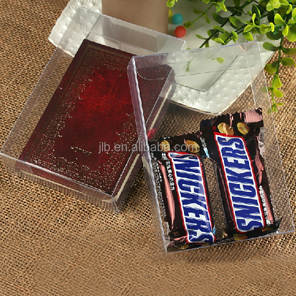 Clear PVC PET Folding Plastic Box for Chocolate Outer Package