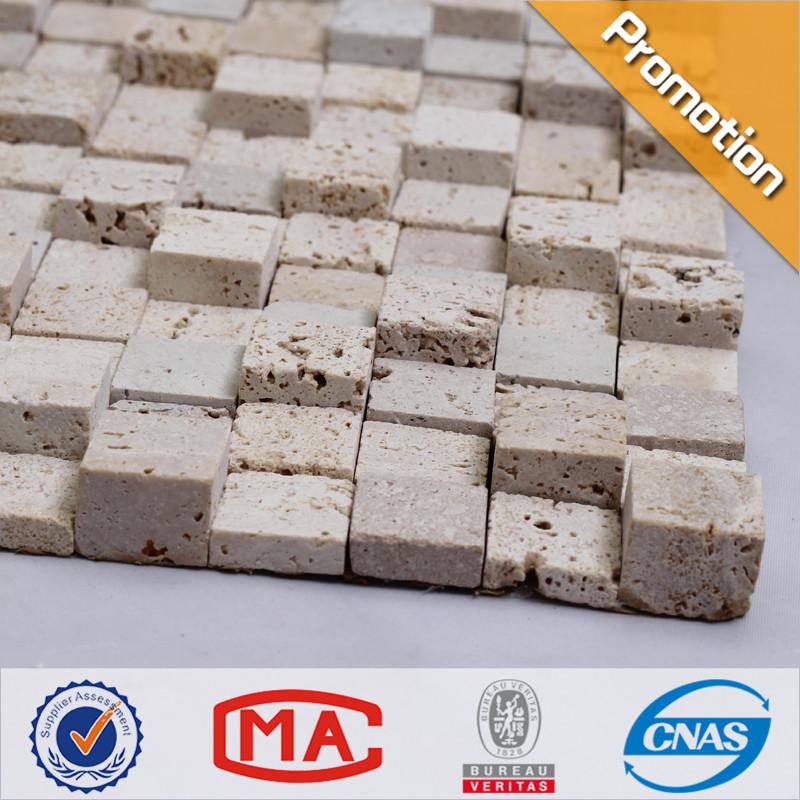 venta al por mayor azulejos de mosaico travertino mosaico de diferentes espesores de mosaico de mrmol