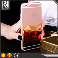 Multifunction Make up hard PC With metal mirror phone case skins for iphone 6 cases