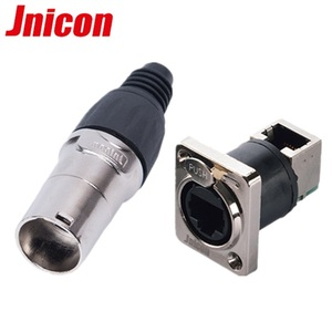 Female RJ45 Plug Waterproof RJ45 Ethernet Connector for Led Display signal connection