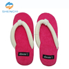 High top kid's cotton hotel logo brand korean style indoor custom slippers