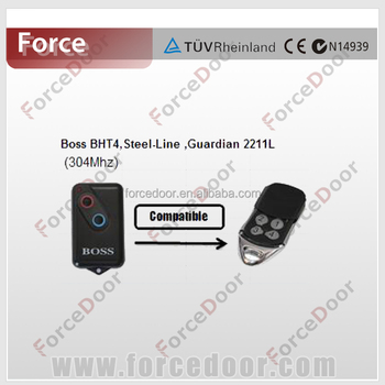 Garage Door Opener Remote Control Compatible To Boss Bht4steel Line