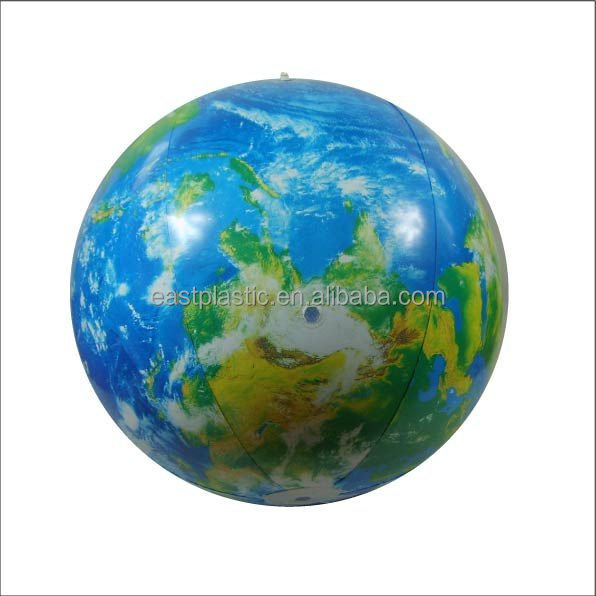 Globe Inflatables PVC Free Beach <strong>Ball</strong>, World Map <strong>Ball</strong>