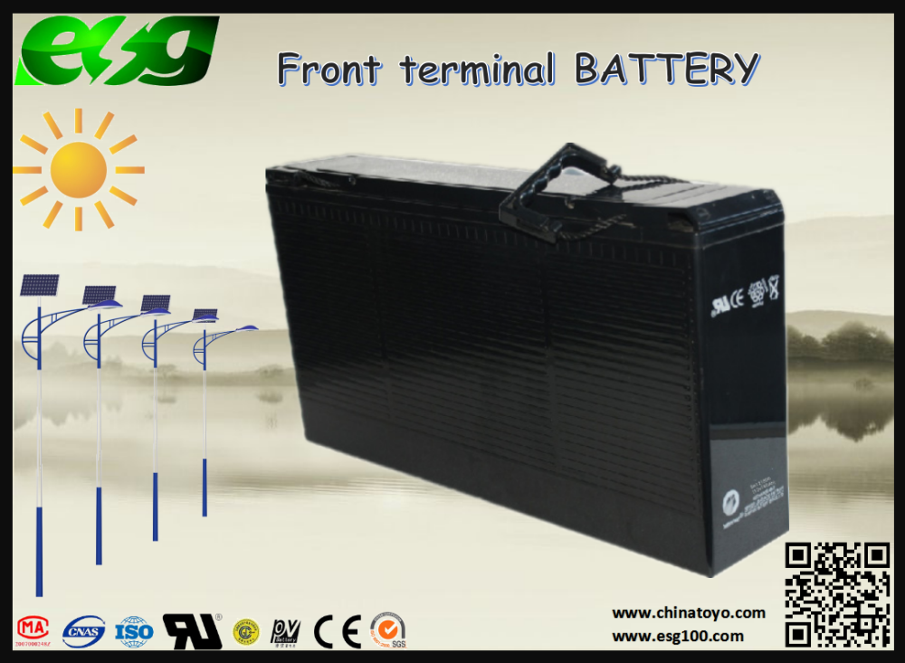 ABS material battery case 6GFM180 front terminal battery