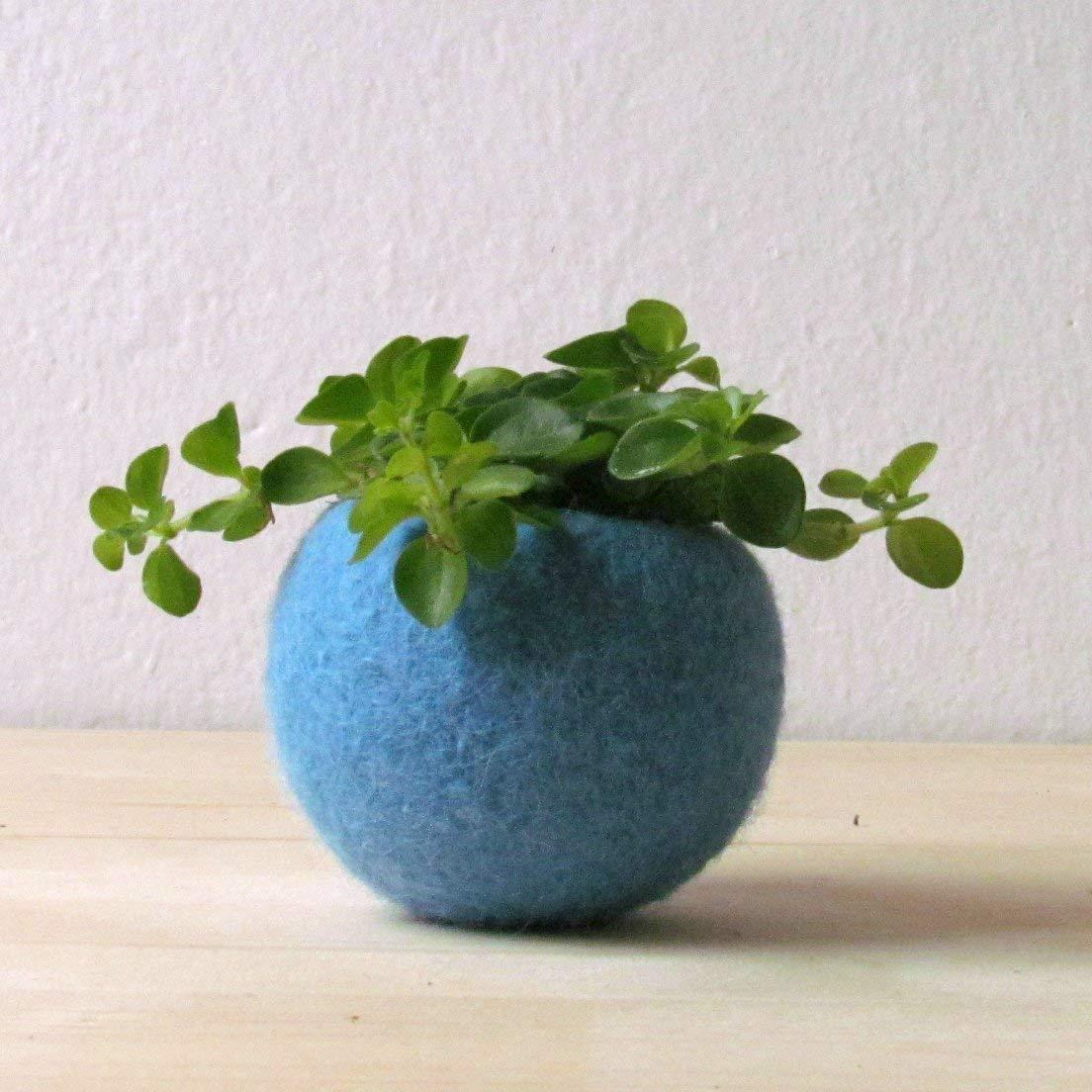 Turquoise planter/Succulent planter/air plant holder/cactus pot/plant vase/modern decor/spring decor