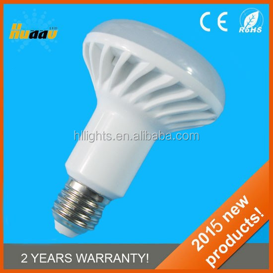 230V AC 10W 800Lm <strong>Plastic</strong> with PC cover Cool White E27 Bulb R80 LED