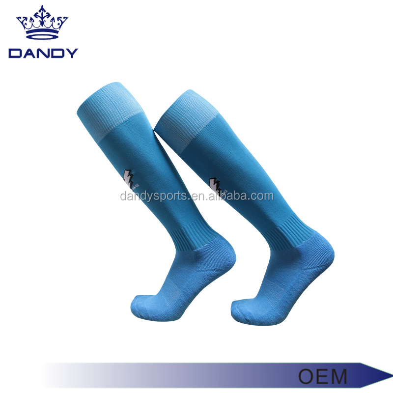 Hot salewholesale custom all black long socks dry fit man compression socks for soccer teams fashion design socks