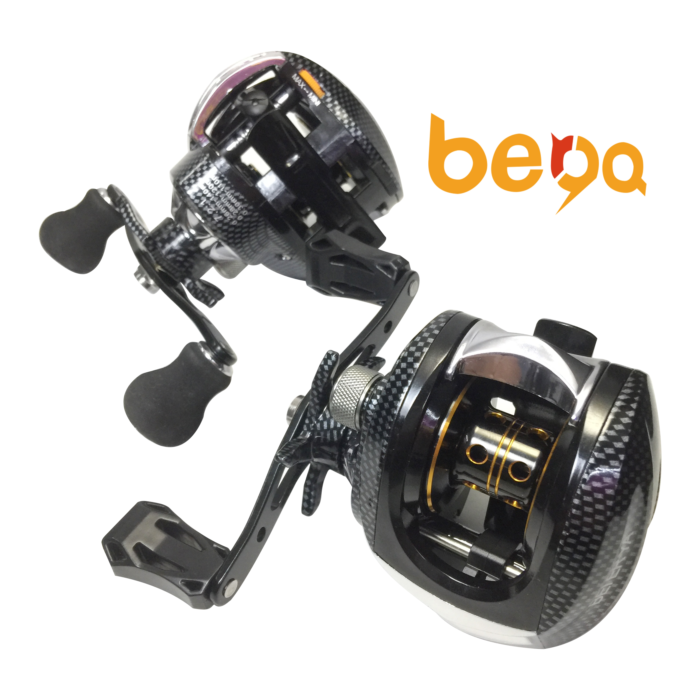 Smooth Dual Braking System 17+1BB Baitcasting Fishing Reel Low Profile Bait Casting Reel, Same as picture or customized