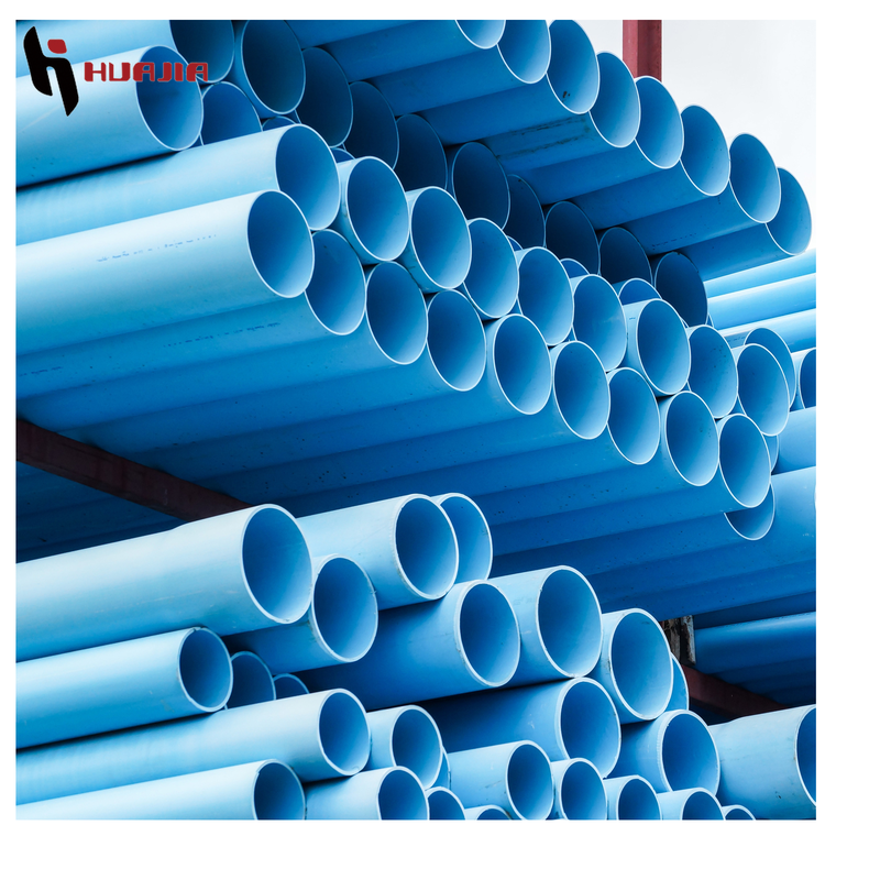 JH0428 blue pvc pipe pvc blue pipe synthetic plastic pipe