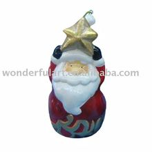 fashional Ceramic Christmas Santa Ornament