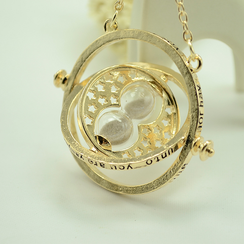 Whoselase Fashion hot sale golden converter hourglass harry style potter necklace