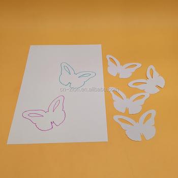 2017 Yeni Stil Diy Plastik Beyaz Kelebek çizim şablonlar Pp